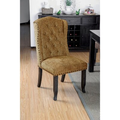 Tennessee Contemporary Dining Upholstered Dining Chair Upholstery: Gold