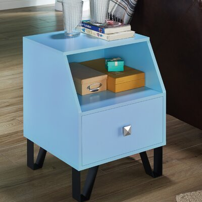 Merriwood Contemporary End Table Color: Sky Blue
