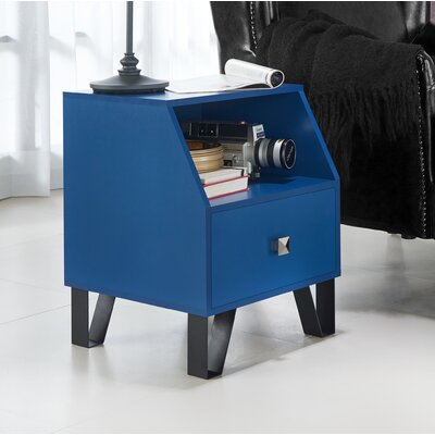 Merriwood Contemporary End Table Color: Navy Blue