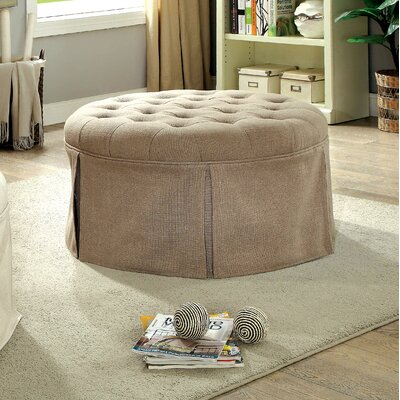 Trefethen Contemporary Ottoman Upholstery: Brown