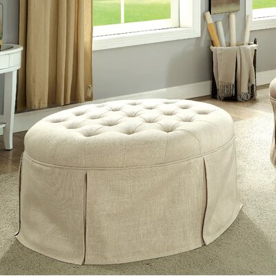 Trefethen Cocktail Ottoman Upholstery: Beige