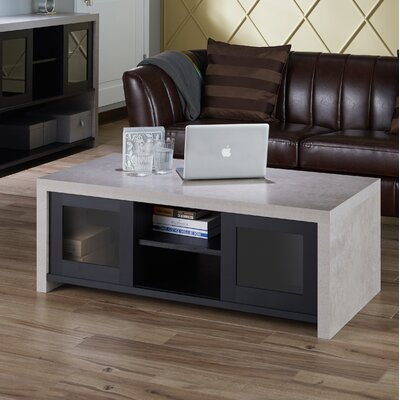 Calvary Industrial Coffee Table Color: Black