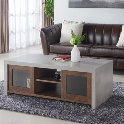 Calvary Industrial Coffee Table Color: Distressed Walnut