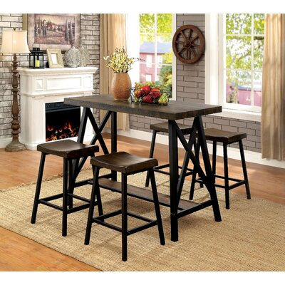 Mount Shasta Industrial Counter-Height Pub Table Set