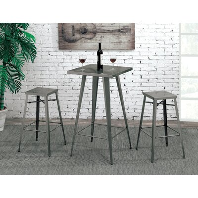 Grosetto Industrial Metal Pub Table Set
