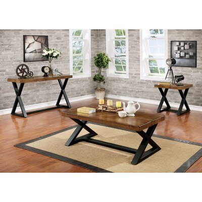 Stahl Industrial 3 Piece Coffee Table Set
