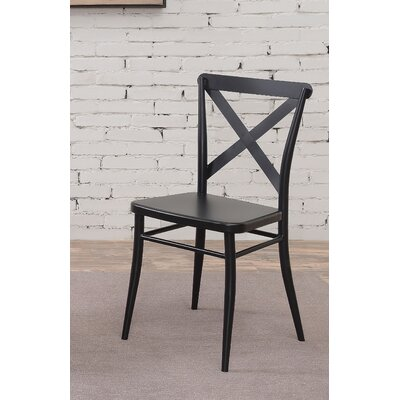 Tawnya Industrial Dining Chair Finish: Black