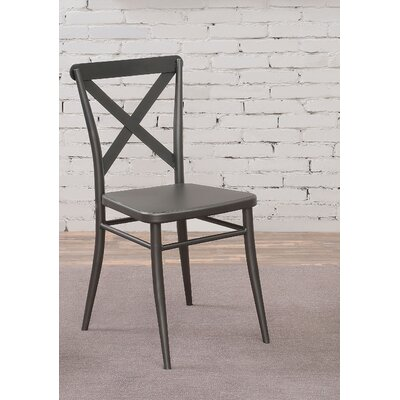 Tawnya Industrial Dining Chair Finish: Dark Gray