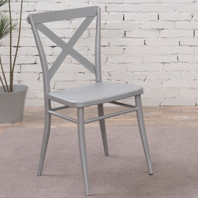 Tawnya Industrial Dining Chair Finish: Silver