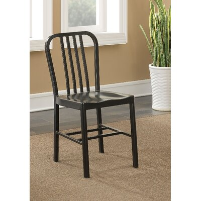Rine Contemporary Dining Chair Finish: Black
