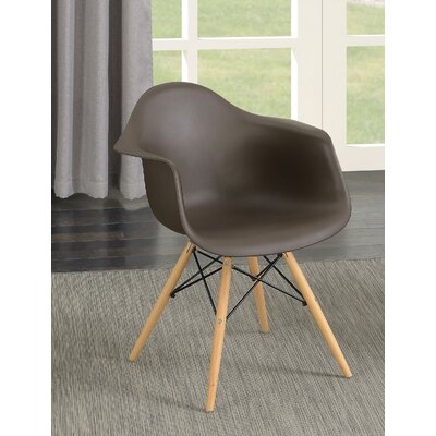 Rinehart Mid Century Modern Solid Wood Dining Chair Finish: Brown