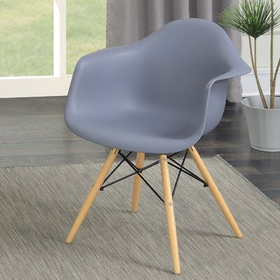 Rinehart Mid Century Modern Solid Wood Dining Chair Finish: Gray