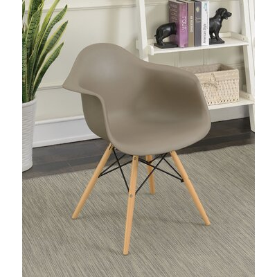 Rinehart Mid Century Modern Solid Wood Dining Chair Finish: Light Brown