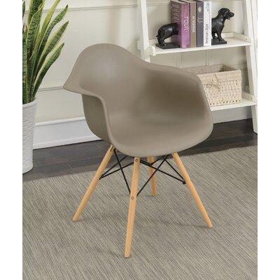 Rinehart Mid Century Modern Solid Wood Dining Chair Finish: Light Brown