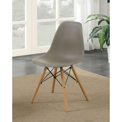 Prou Mid Century Solid Wood Dining Chair Finish: Light Brown