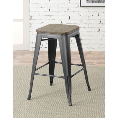 Gillespie Industrial 26 Bar Stool Color: Gray
