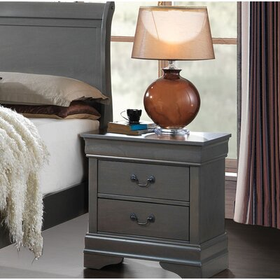 Angus Contemporary 2 Drawer Nightstand