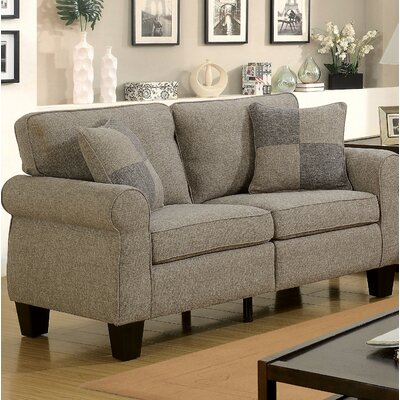 Felton Transitional Loveseat Upholstery: Light Gray