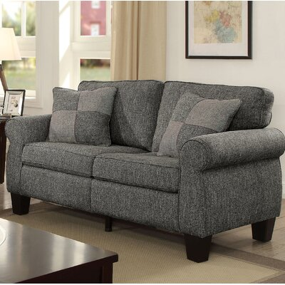 Felton Transitional Loveseat Upholstery: Dark Gray
