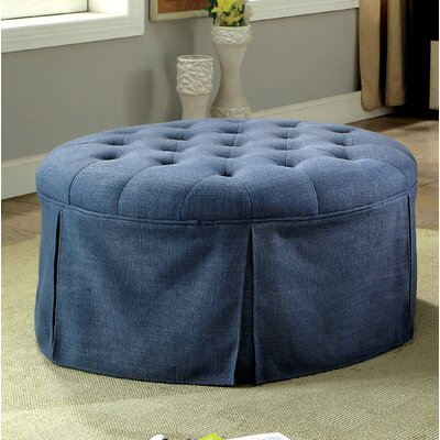 Trefethen Contemporary Ottoman Upholstery: Blue