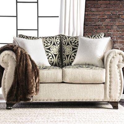 Burcham Contemporary Loveseat Upholstery: Light Mocha