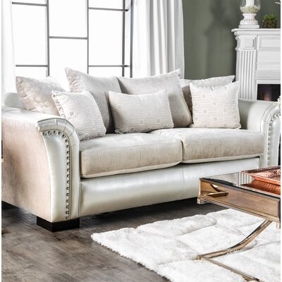 Calton Contemporary Sofa Upholstery: Pearl/White