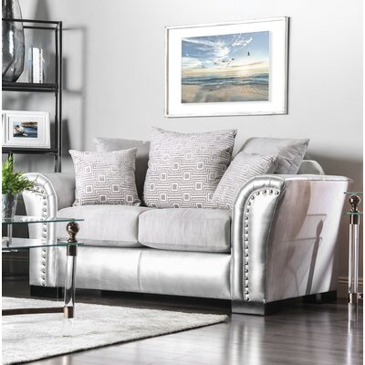 Calton Contemporary Loveseat Upholstery: Silver/Gray