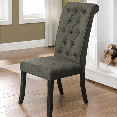 Tomasello Transitional Upholstered Dining Chair Upholstery: Gray