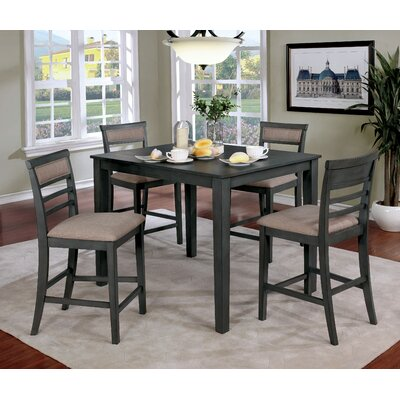 Duong Counter Height Dining Set Color: Gray