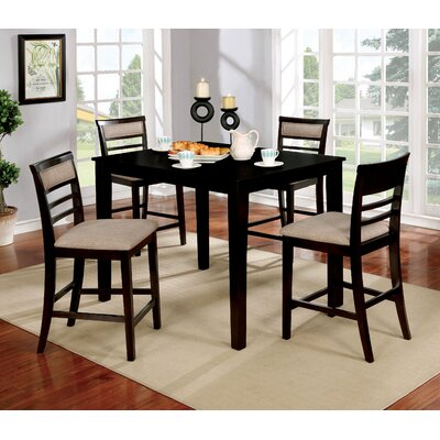Duong Counter Height Dining Set Color: Espresso