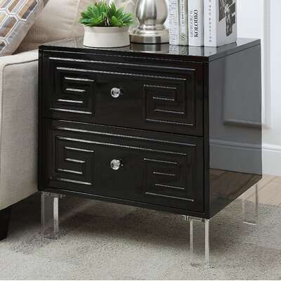 Bostrom End Table Color: Black