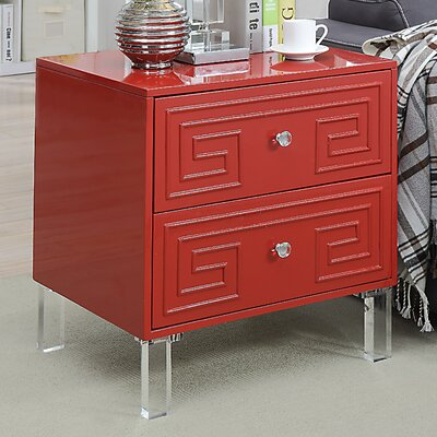 Bostrom End Table Color: Red
