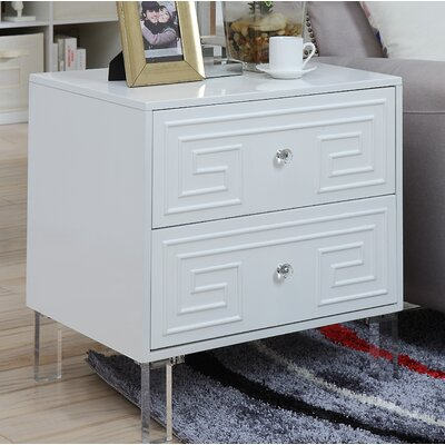 Bostrom End Table Color: White