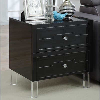Boswell End Table Color: Black