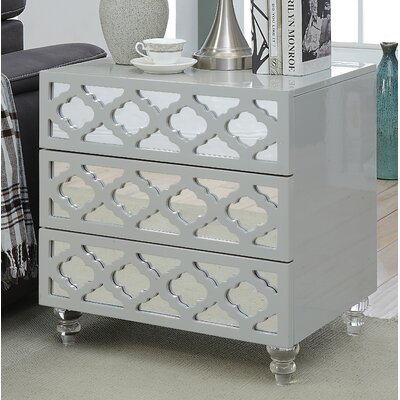 Botelho 3 Drawer Nightstand Color: Gray