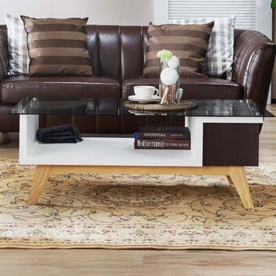 Alijah Coffee Table with Storage Color: Espresso