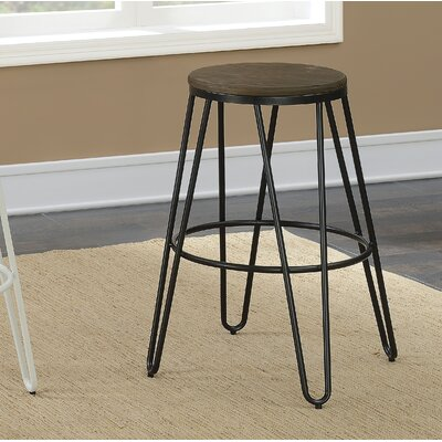 Gilland Industrial 26 Bar Stool Color: Black