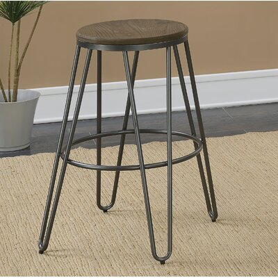 Gilland Industrial 26 Bar Stool Color: Dark Gray