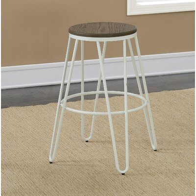 Gilland Industrial 26 Bar Stool Color: White