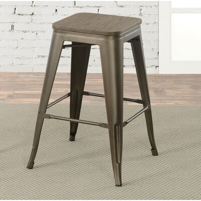 Gillespie Industrial 26 Bar Stool Color: Bronze