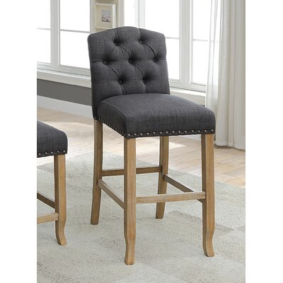 Aubry 30.75 Bar Stool Color: Gray
