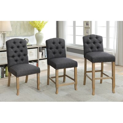 Aubry 20 Bar Stool Color: Gray