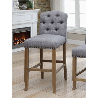 Aubry 30.75 Bar Stool Color: Light Gray