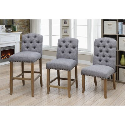 Aubry 20 Bar Stool Color: Light Gray