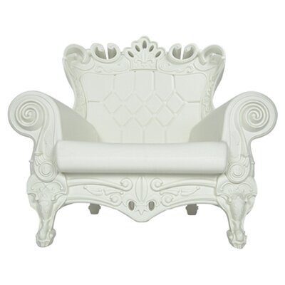 Queen of Love Lounge Chair Upholstery: Simple White