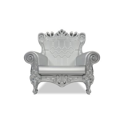 Queen of Love Lounge Chair Upholstery: Silver