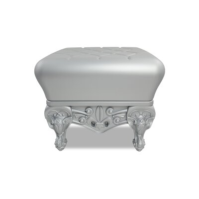 Little Prince of Love Ottoman Upholstery: Silver