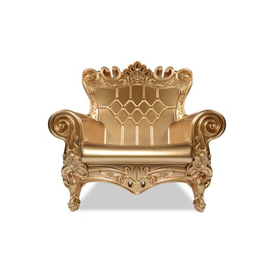 Queen of Love Lounge Chair Upholstery: Gold