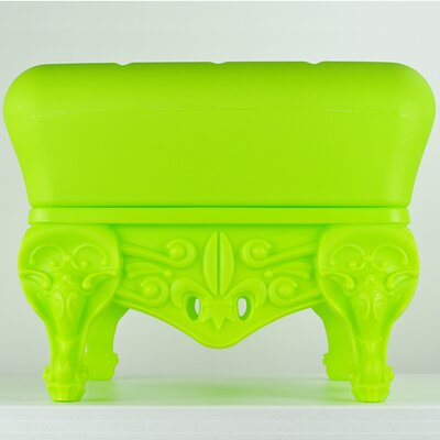 Little Prince of Love Ottoman Upholstery: Pure Green