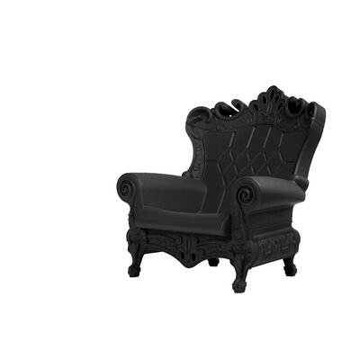 Queen of Love Lounge Chair Upholstery: Chic Black
